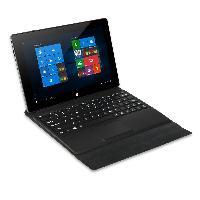 英特尔10.1寸 2G32G四核 800*1280屏 前黑后铁灰色 P+GTP 前2后2 6600电池 朔胶壳 配软皮套键盘